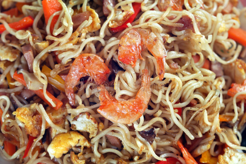 Fried Shrimp Noodles royalty free stock photography
