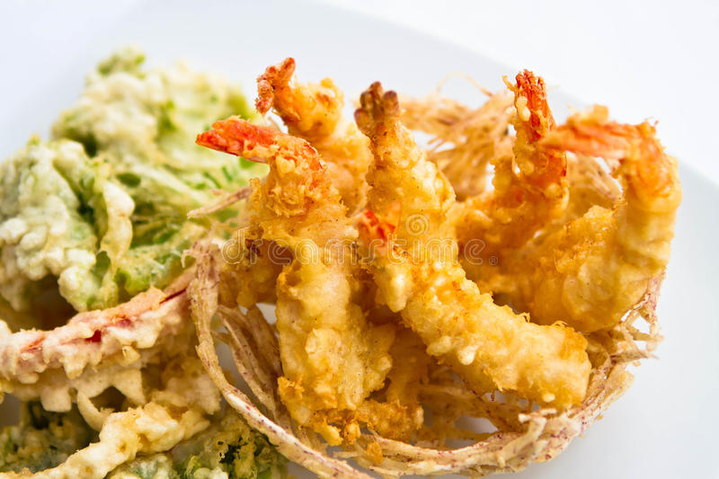 Fried Shrimps stockbilder