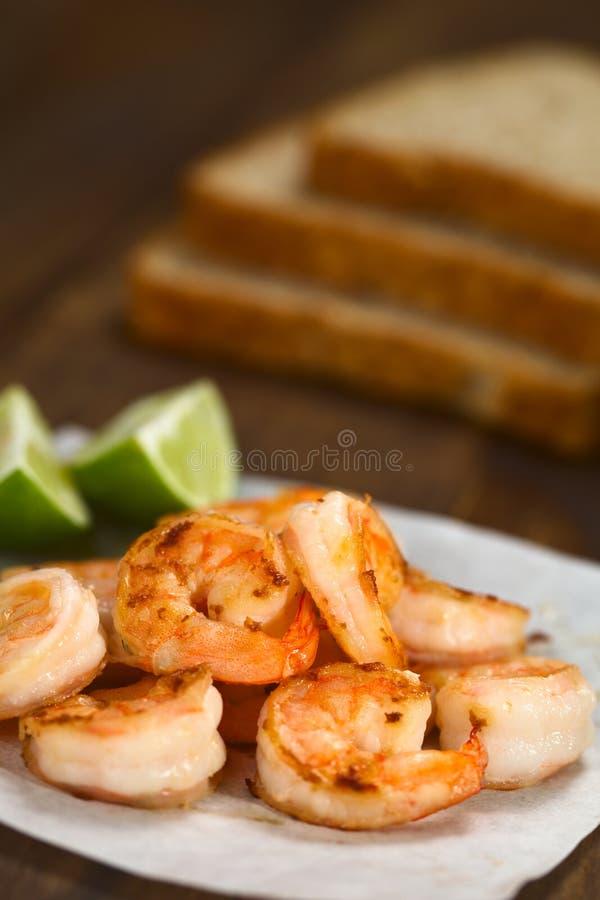 Fried Shrimps imagens de stock royalty free