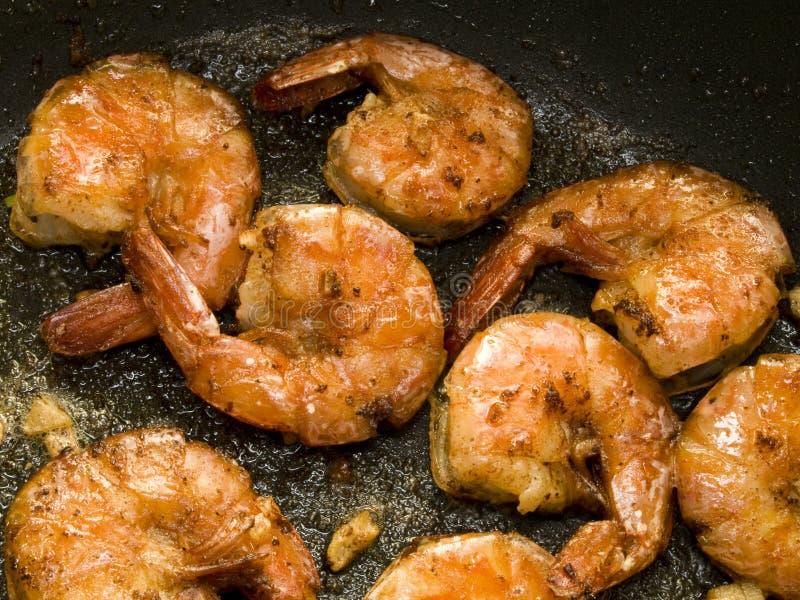 Fried shrimps stock image
