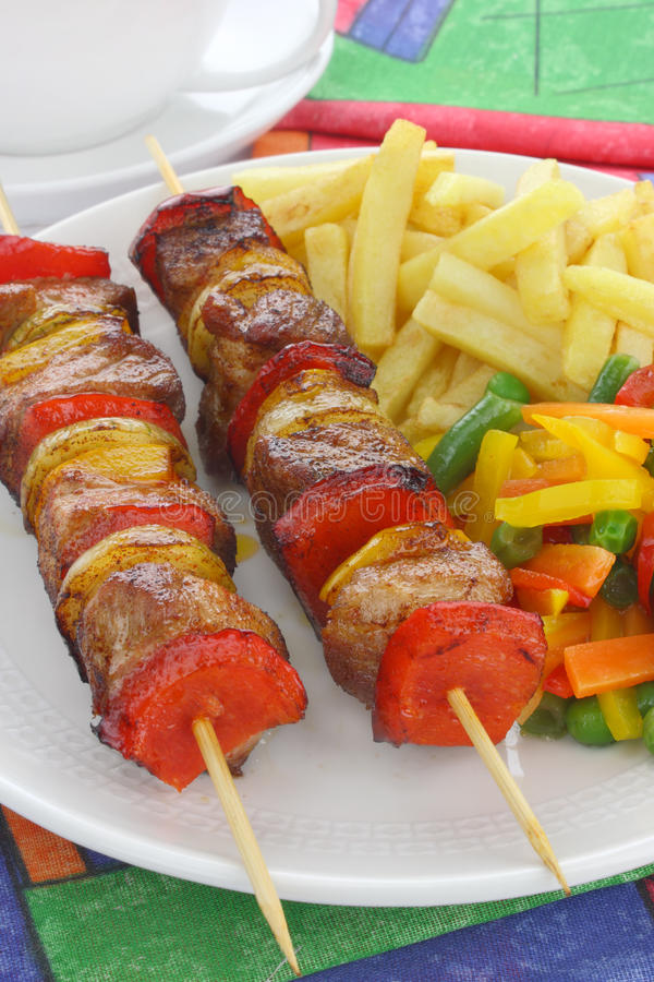 Fried Skewers Royalty Free Stock Photos