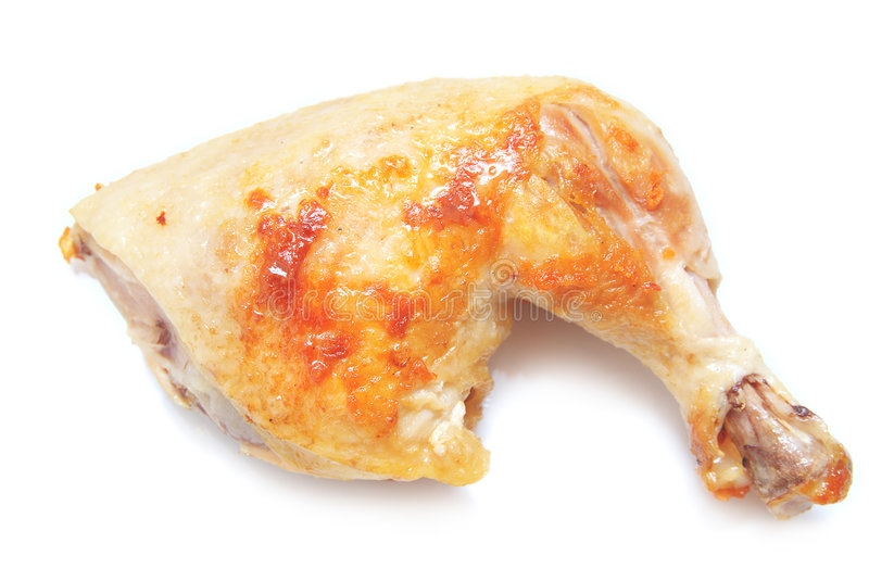 Fried sliced chicken royalty free stock photography