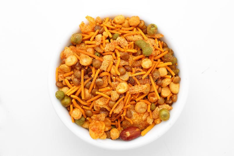 Fried snack in India-Snacks-South Indian Mixture Recipe stock photos