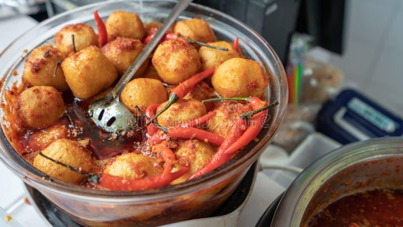 Fried Spicy Tofu remué délicieux photos stock