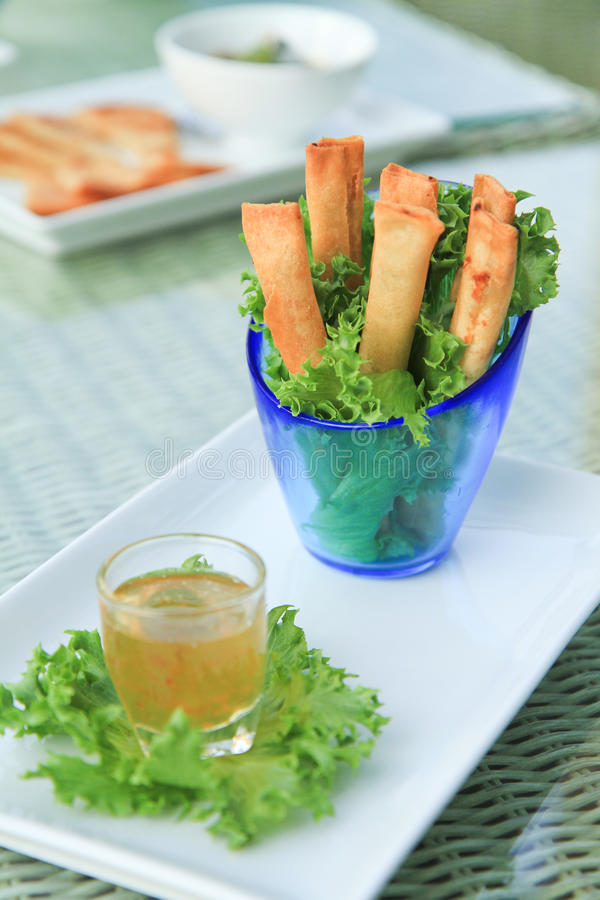 Download Fried spring rolls stock photo. Image of green, fried - 36736022