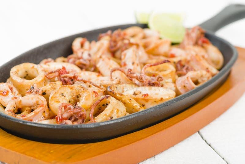Fried Squid Rings fotografía de archivo