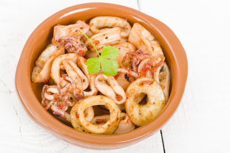 Fried Squid Rings foto de archivo