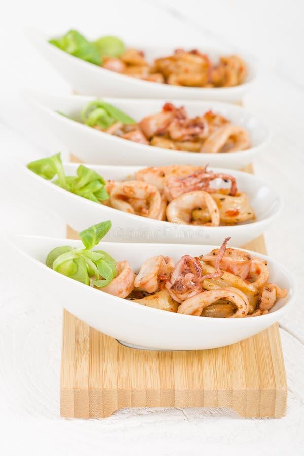 Fried Squid Rings imagen de archivo libre de regalías
