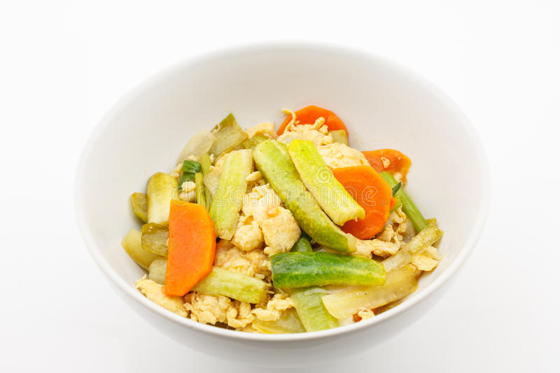 Download Fried Stir Cucumber With Egg And Vegetable For Vegetarian Stock Image - Image: 33427977