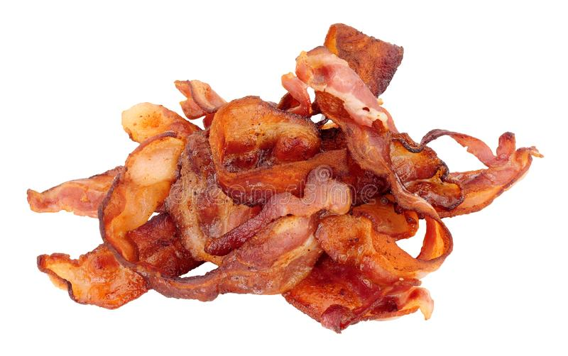 Fried Streaky Bacon Rashers imagem de stock royalty free