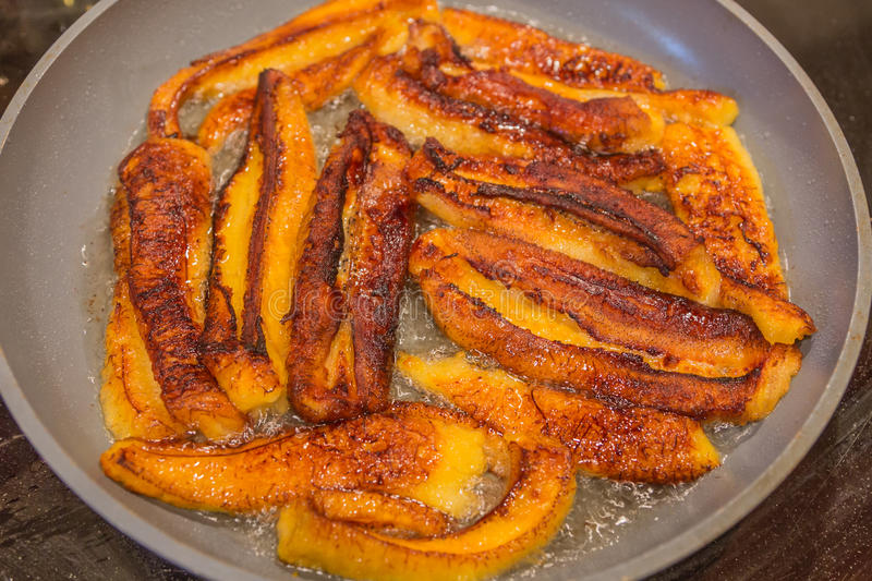 Fried Sweet Plantains arkivbild