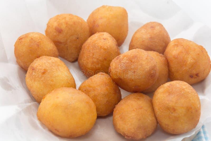 Fried Sweet Potato Balls de plat photo libre de droits