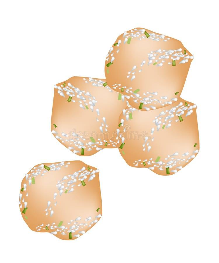 Download Fried Sweet Potato Balls Profundo Con El Azúcar En Polvo Ilustración del Vector - Ilustración de cena, rápido: 41921042