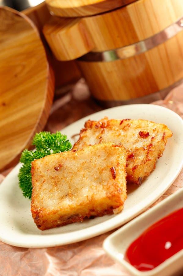 Fried Taro Cakes royalty free stock photo