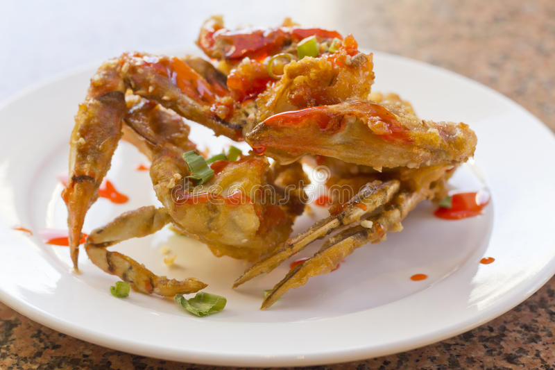 Fried Thai Crab Legs stock afbeeldingen