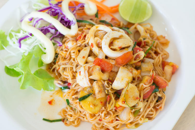 Fried Thai Mama Instant Noodles stockfotografie