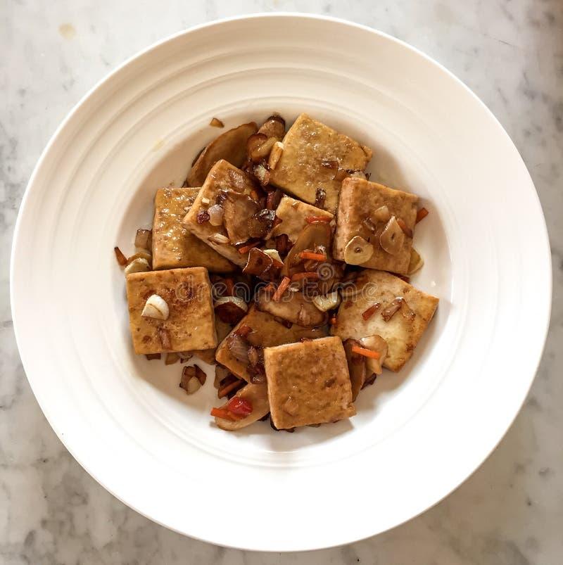 Fried Tofu, style chinois photographie stock libre de droits