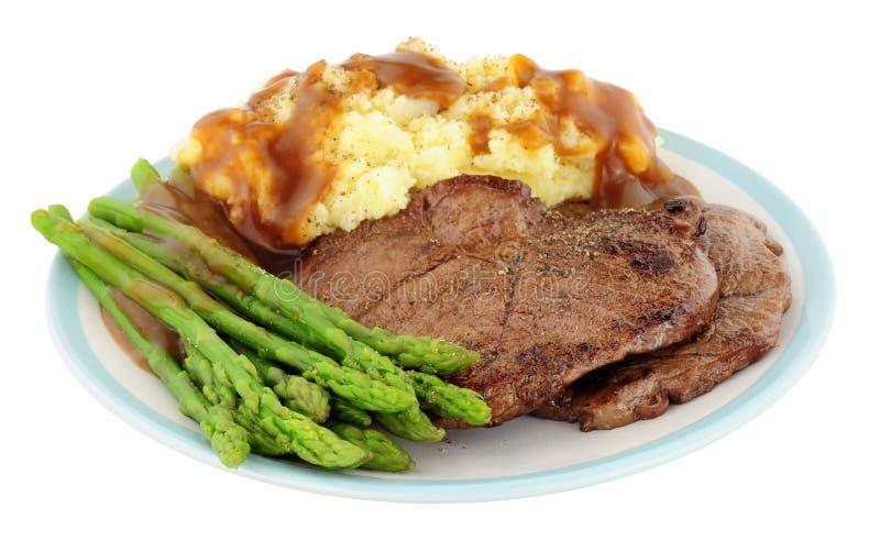 Fried Venison Steak Meal immagini stock libere da diritti