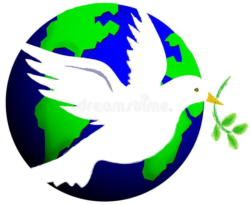 Frieden auf Erde stock abbildung