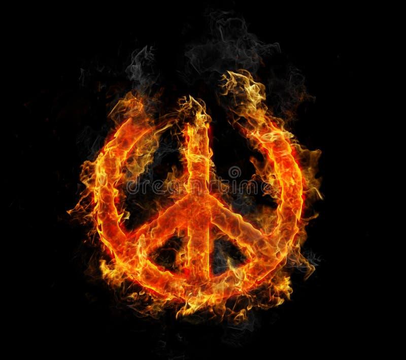 Frieden auf Feuer stock abbildung