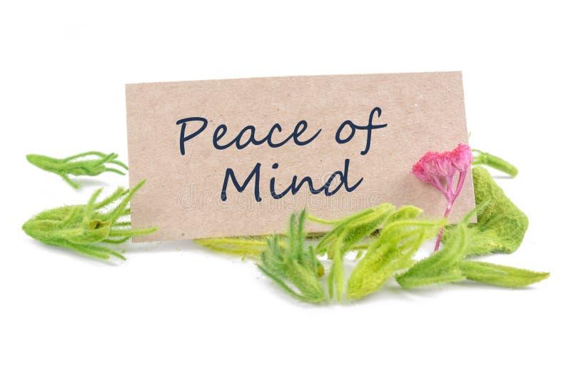 Frieden des Verstandes stockbilder