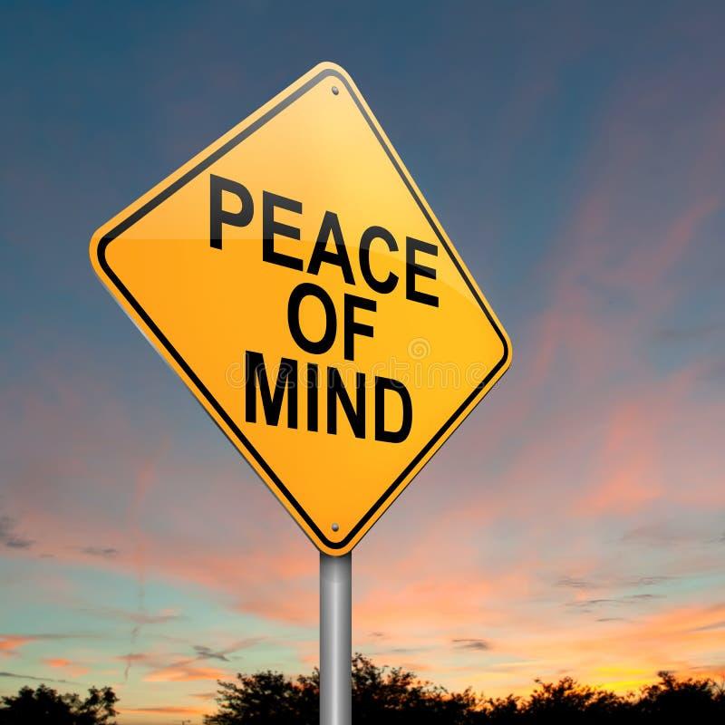 Frieden des Verstandes. stock abbildung