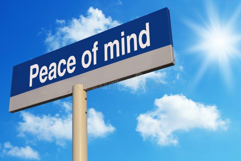 Frieden des Verstandes stockbild