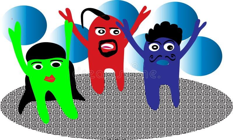 Frieden, Liebe, Farben, Wettbewerb, Spaß, Hilfe, Energie, Reinheit, Teamwork lizenzfreies stockfoto