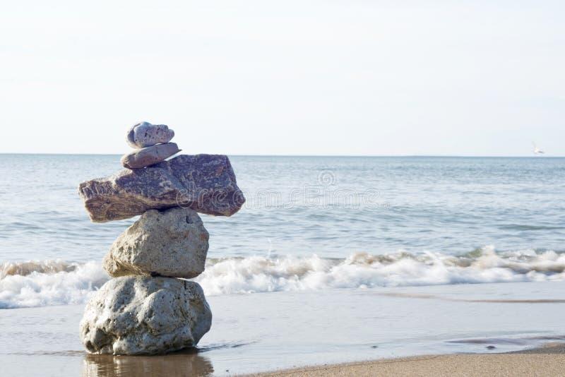 Frieden am Strand stockfotografie