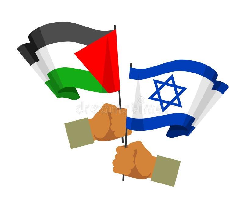 Friedensbeziehungskonzept Palästinas Israel stock abbildung