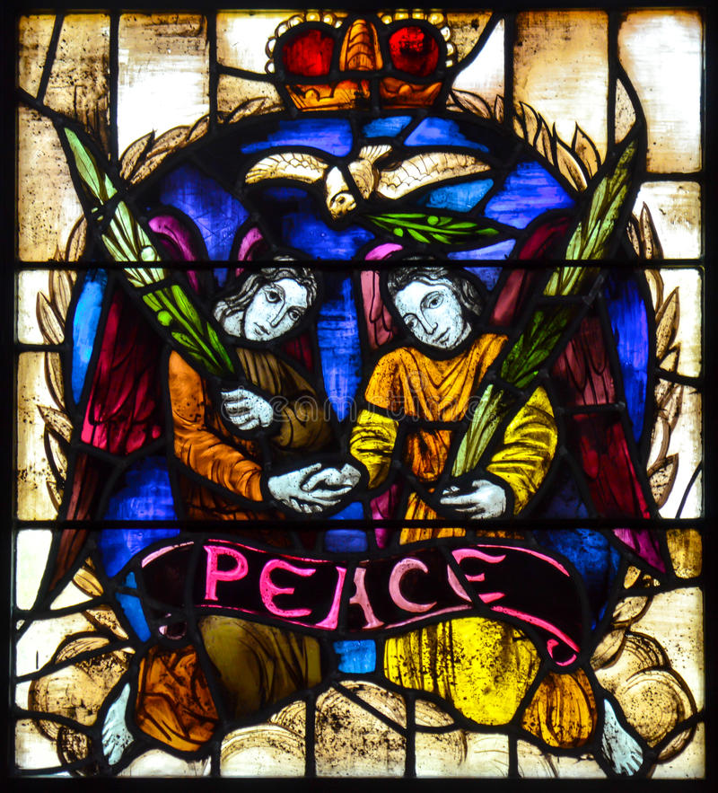 Friedensbuntglas lizenzfreie stockfotos