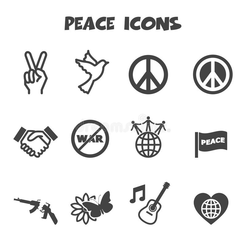 Friedensikonen stock abbildung