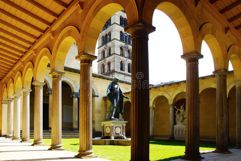 Friedenskirche - de Kerk van de Wereld. royalty-vrije stock foto