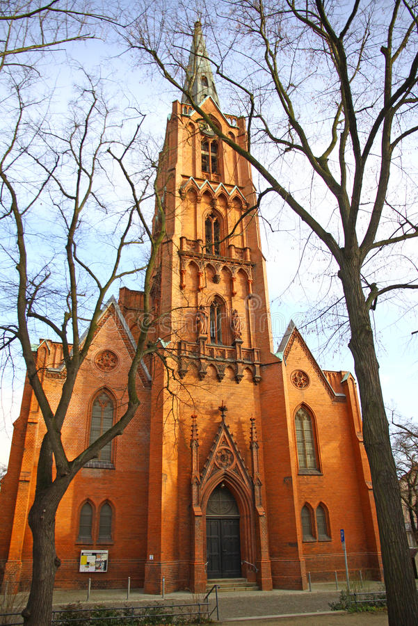 Friedenskirche a Francoforte un der Oder, Germania fotografie stock