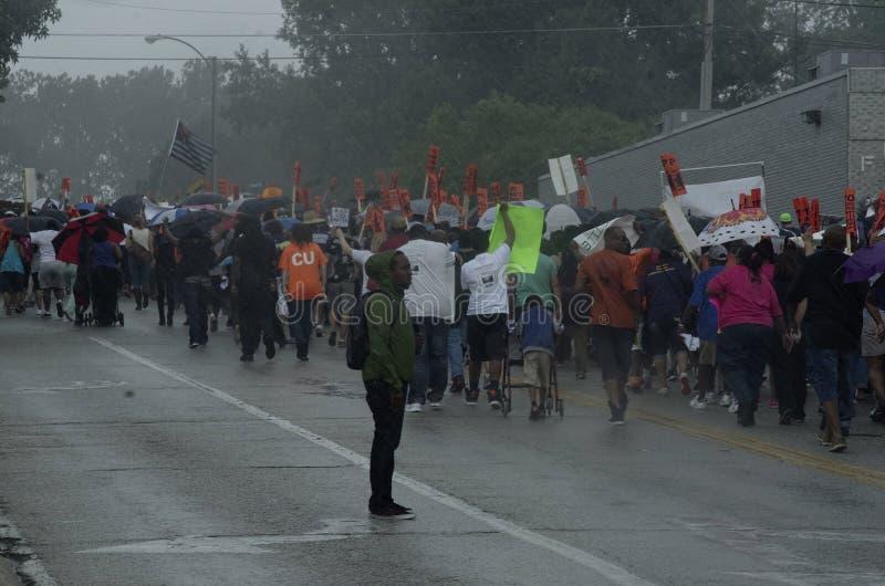 Friedensmarsch für Michael Brown lizenzfreies stockbild
