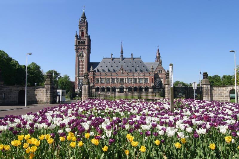 Friedenspalast in Den Haag stockfotografie
