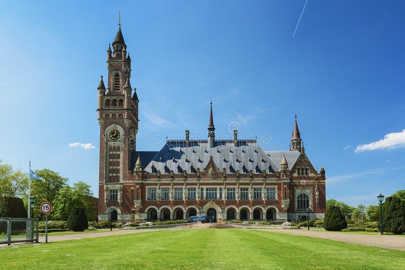 Friedenspalast in Den Haag, die Niederlande Es bringt unter anderem t unter stockfotografie