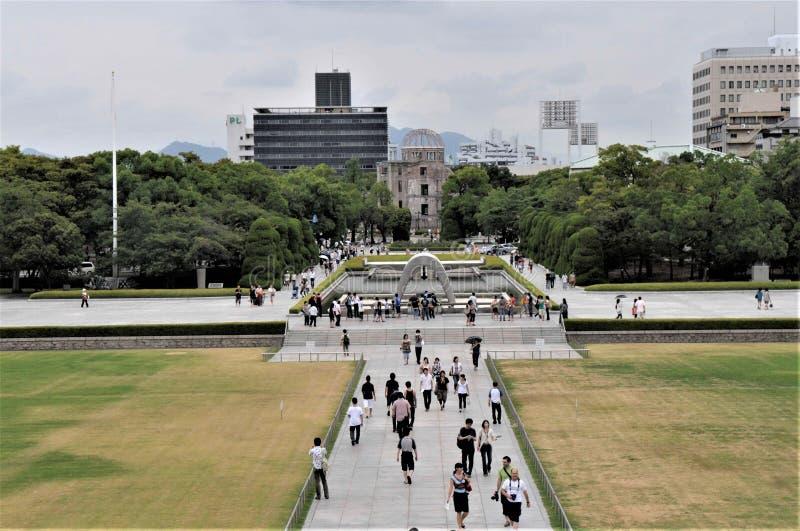 Friedenspark Japans Hiroshima stockfotografie