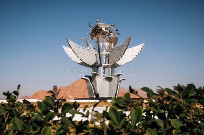 Friedensquadrat-Monument, Sinai, Ägypten lizenzfreie stockfotografie