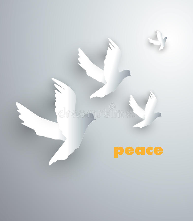 Friedensvögel stock abbildung