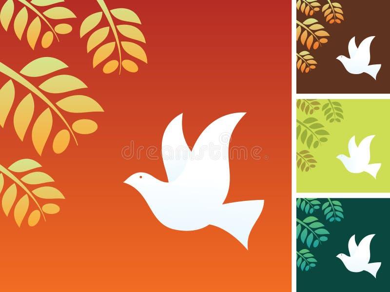 Friedensvogel stock abbildung