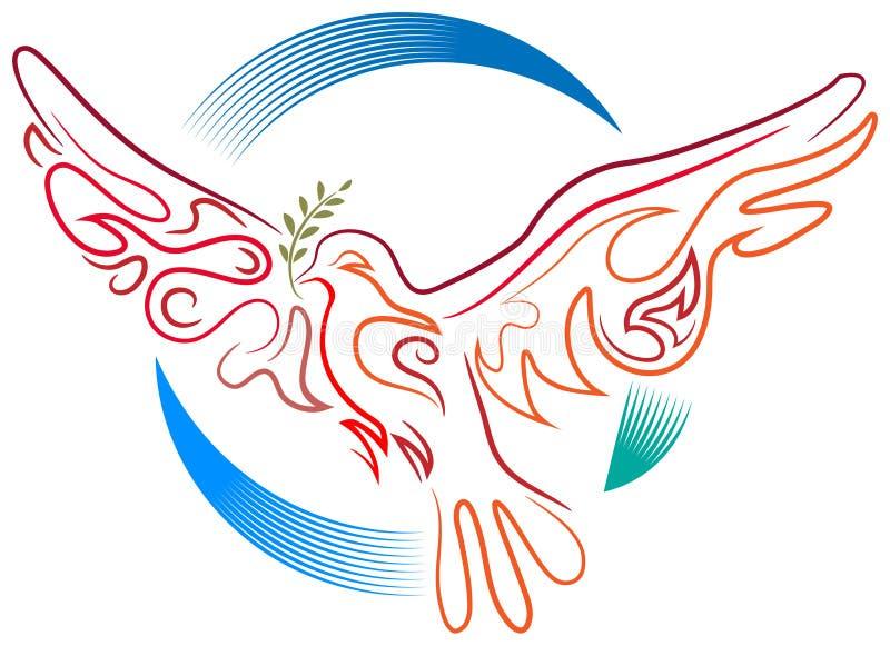 Friedensvogel vektor abbildung
