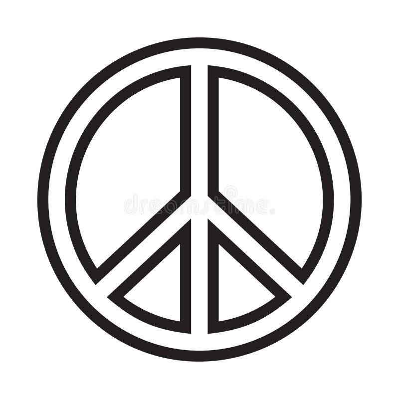 Friedenszeichen stock abbildung
