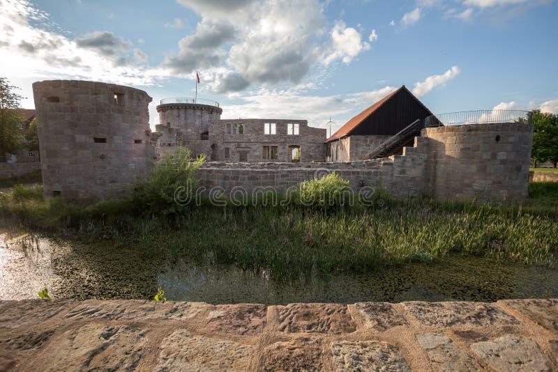 Friedewald Hesse Allemagne de castel de l'eau images stock