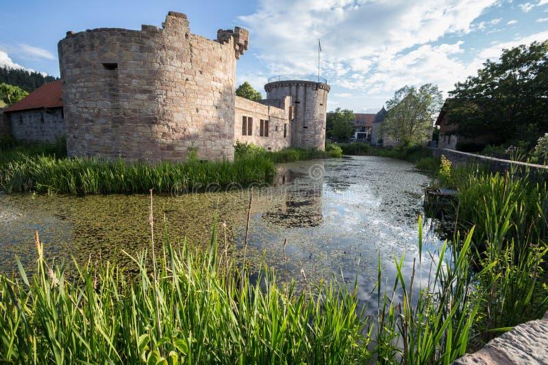 Friedewald Hesse Allemagne de castel de l'eau photos stock