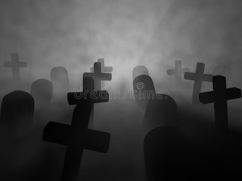 Friedhof stockfotografie