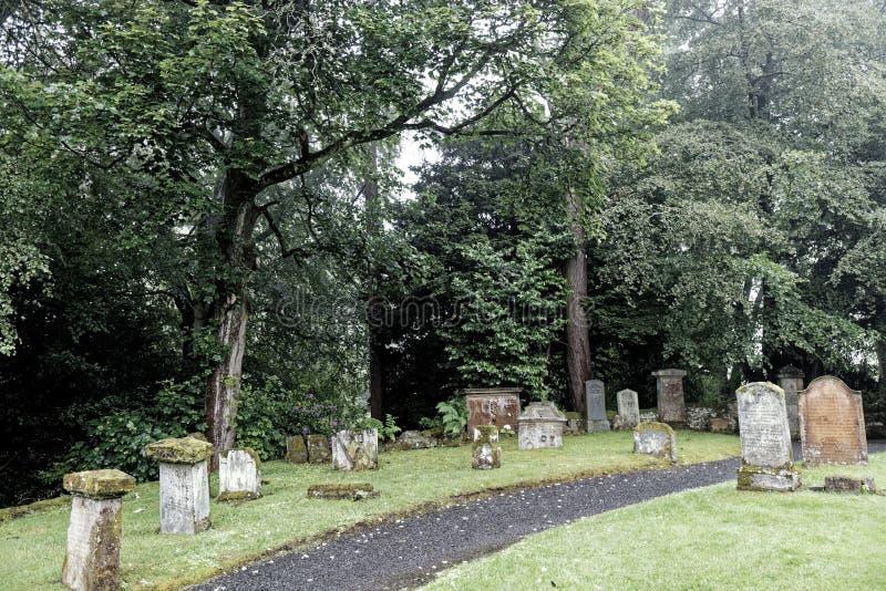 Friedhof der Kapelle Glencorchamps - Edinburgh, Schottland lizenzfreie stockfotografie