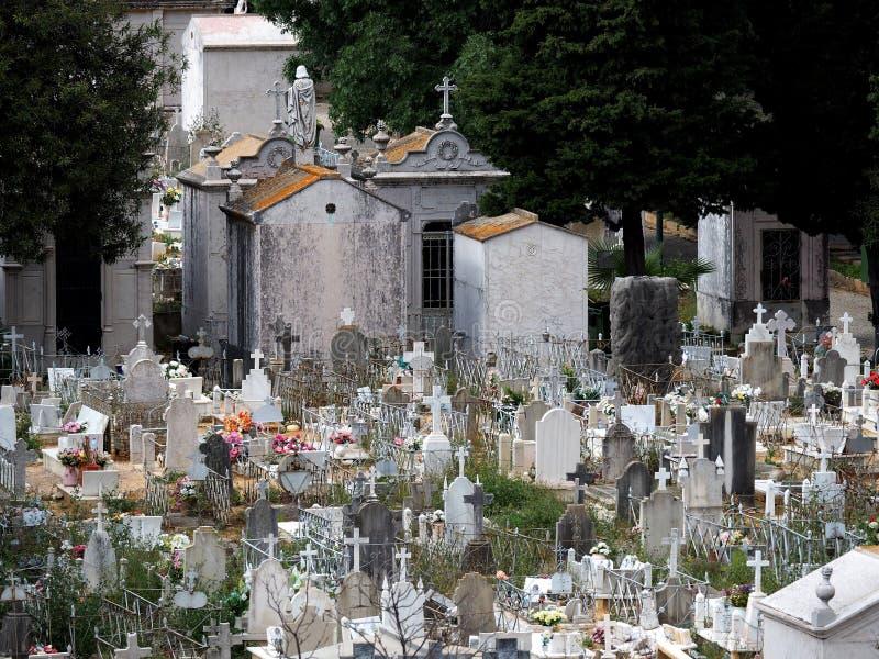 Friedhof oder Kirchhof in Faro Portugal stockfoto