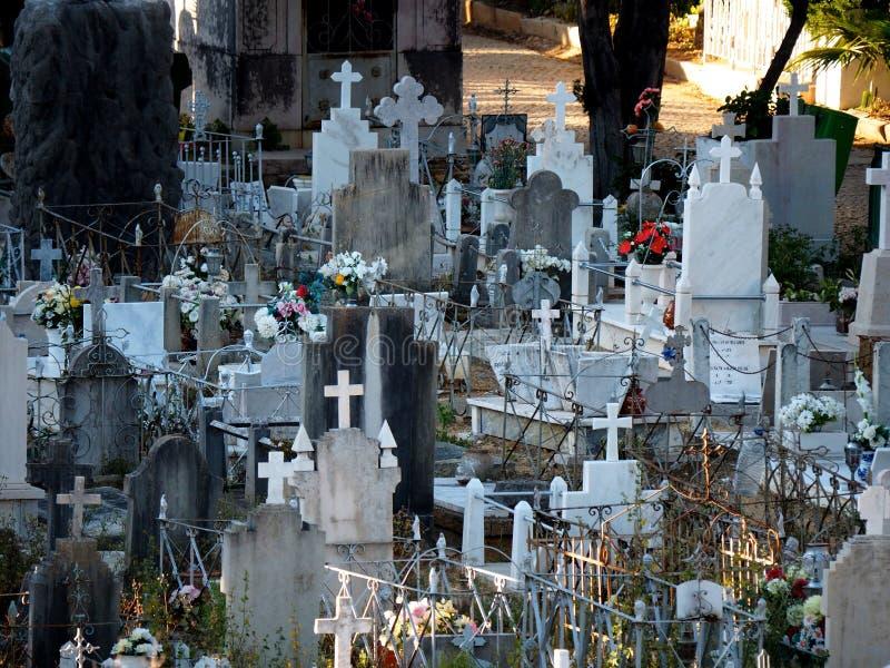 Friedhof oder Kirchhof in Faro Portugal lizenzfreies stockfoto