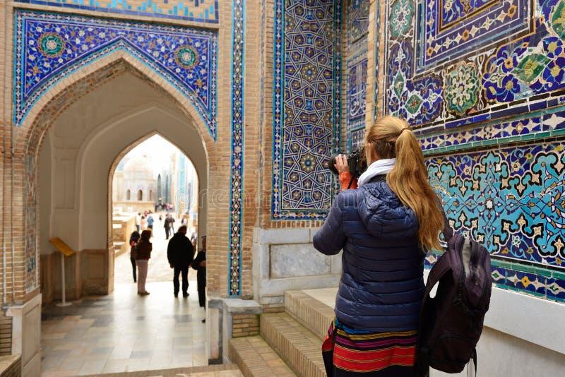 Friedhof Samarkand, Usbekistan stockbilder